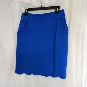 S)Brixon Ivy Cobalt Scalloped Edge Skirt